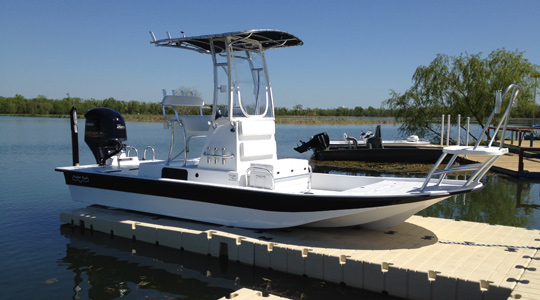 BP5001 BoatPort with Side Extensions, Float Tank, Air-Assist and Large Platform