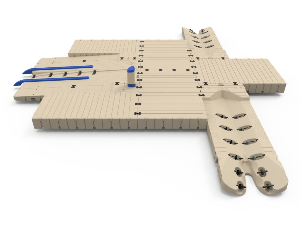 Dock with 2 PWC ports and a BoatPort®
