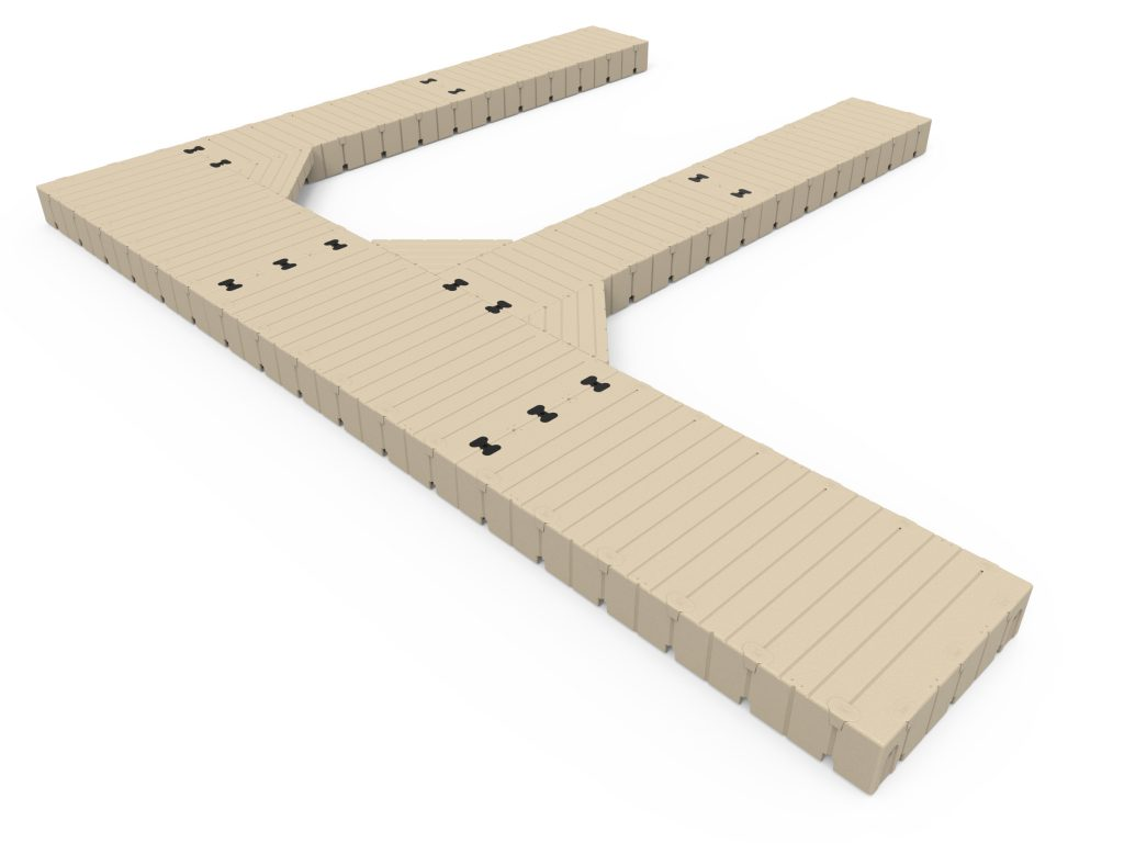 F-Shape dock, 30' Long x 25' Wide, with 40