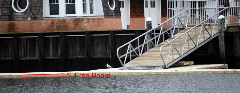 floating docks - free board height adjustment
