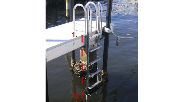 floating docks - measuring for the ladder